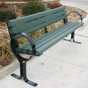 WebCoat Hoop Style Recycled Plastic Park Bench Patio, Lawn & Garden