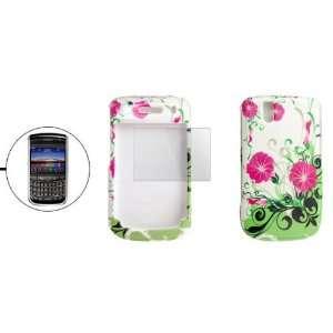 Gino Flower Pattern Plastic Case Shield for Blackberry
