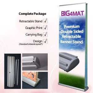 34 Premium Double Sided Retractable Banner Stand with
