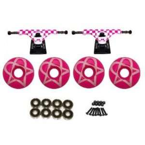 Bam Heartagram Pro Skateboard Truck and Wheel Pack:  Sports