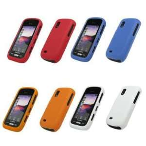 Silicone Gel Skin Cover Cases (Orange, Blue, Red, White) for Samsung