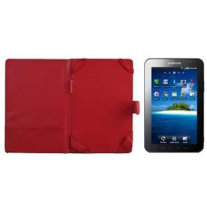 Samsung Galaxy Tab Leather Case Folio   RED  Players