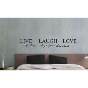Live well, Laugh often, Love much Vinyl wall art