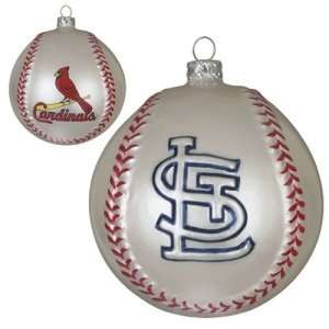 . Louis Cardinals MLB Glass Baseball Ornament (3) Sports & Outdoors