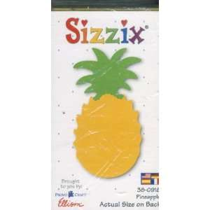 Sizzix Originals pineapple YELLOW MEDIUM DIE 38 0918  Home