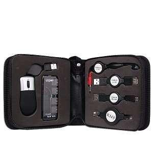 Portable USB Travel Kit with Mini USB Optical Mouse/Hub