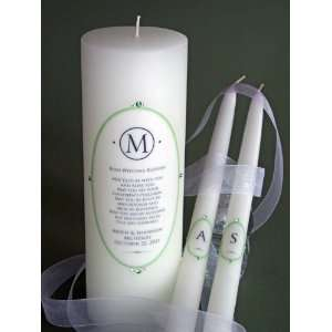 Crystal Oval Elegance Unity Candle & Matching Tapers