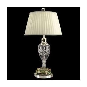 Tiffany GT10015 Crystal Table Lamp, Polished Chrome and Fabric Shade