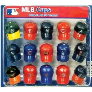 MLB Baseball Caps 2 Vending Machine Capsules w/Display