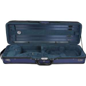 and Will TFY07 Standard Oblong 4/4 Violin Case, Navy and Light Blue