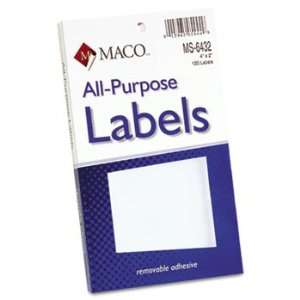Adhesive Removable Labels, 2 x 4, White, 120/Pack