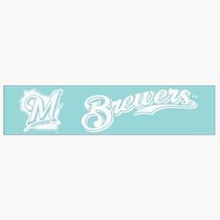 MLB Milwaukee Brewers 4x16 Die Cut Decal