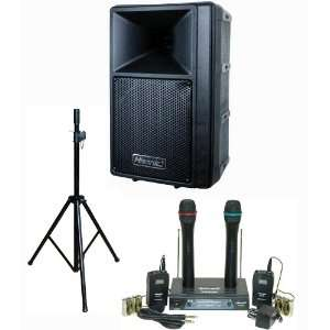 PA System with Dual VHF Wireless Microphone System Office Products