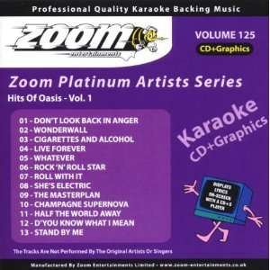 Zoom Karaoke CD+G   Platinum Artists 125 Oasis Zoom