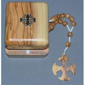 7 mm round Olive Wood Anglican Rosary   9 long: Everything Else