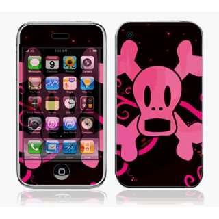 iPhone 3G Skin Decal Sticker   Pink Screaming Crossbones~