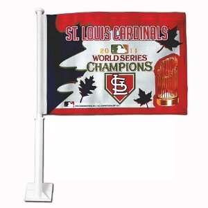 St. Louis Cardinals World Series Champions Car Flag