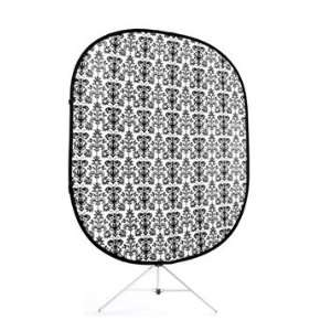 Savage Black/White Retro Collapsible Background w/ Stand
