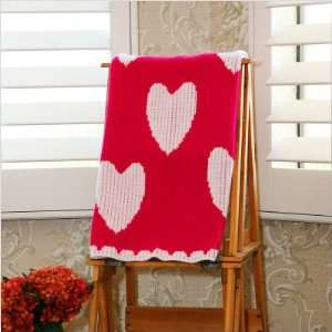Hot Pink and White Heart Stroller Blanket Baby
