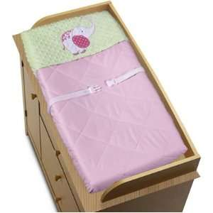 Pink and Green Jungle Friends Girls Baby Changing Pad