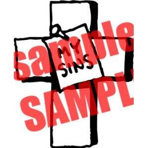 MY SINS CHRISTIAN WHITE VINYL DECAL STICKER Everything