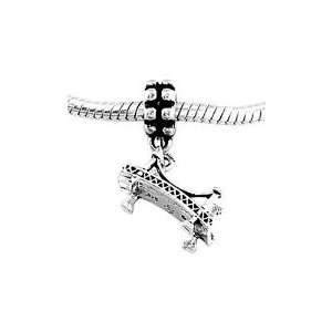 Sterling Silver Bridge Dangle Bead Charm Jewelry