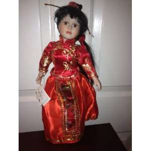 com The Anastasia Collection Su Ling Porcelain Doll Everything Else