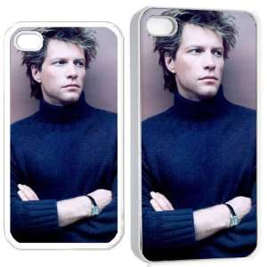 bon jovi iPhone Hard Case 4s White Cell Phones