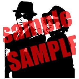 BLUES BROTHER MOVIE WHITE VINYL DECAL STICKER Everything