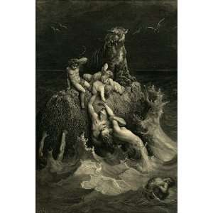 The Deluge, by Gustave Dore   24x36 Poster