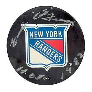 Emile The Cat Francis HOF 1982 Autographed / Signed New York Rangers