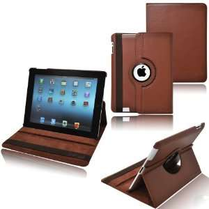Rotating Stand Leather Case with Sleep And Wake Function for New Apple
