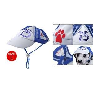 Pet Dog Sports Size L Crystal Decor Summer Hat Cap  Pet