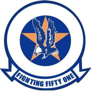 US Navy VF 51 Screaming Eagles Squadron Decal Sticker 3.8