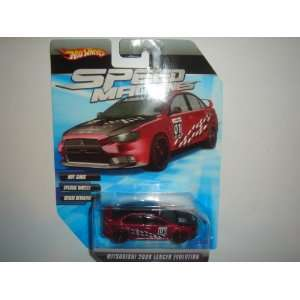 Hot Wheels Speed Machines 2008 Mitsubishi Lancer Evolution Dark Red