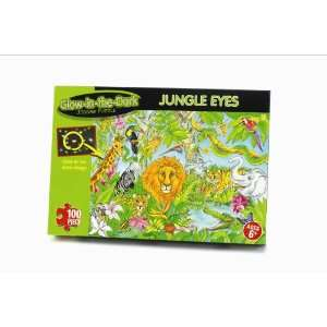Glow In The Dark 100 Pc Jigsaw Puzzle   Jungle Eyes 1360: Toys & Games