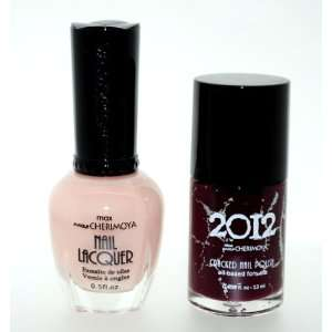 Crackle Style Design Hades 2 Piece Color Nail Lacquer Combo Set  Pink