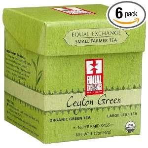 Equal Exchange Organic Fair Trade Ceylon Green Large Leaf Green Tea