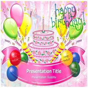 Happy Birthday Powerpoint Template   Happy Birthday Powerpoint (Ppt