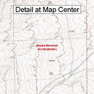 USGS Topographic Quadrangle Map   Majuba Mountain, Nevada