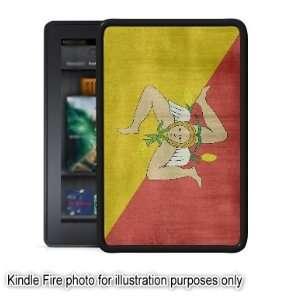 Sicily Italy Sicilian Flag Distressed Kindle Fire Black
