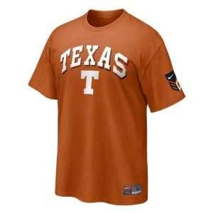 Texas Longhorns Dark Orange Nike Baseball Practice T Shirt