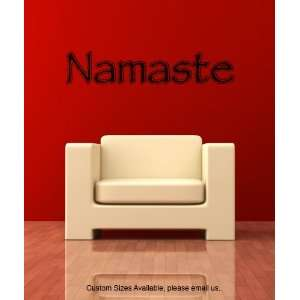 Vinyl Wall Decal Sticker Namaste Phrase size 12inX65in