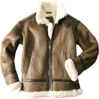 ALPHA INDUSTRIES Lederjacke brown 103154/20