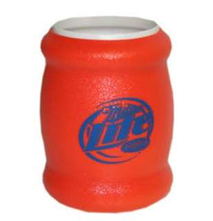 miller lite neon orange can cooler koozie see all products miller beer