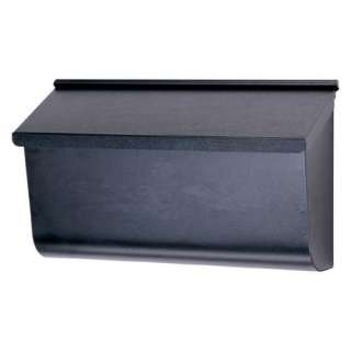 Gibraltar Industries Extra Large Black Horizontal Wall Mount Mailbox