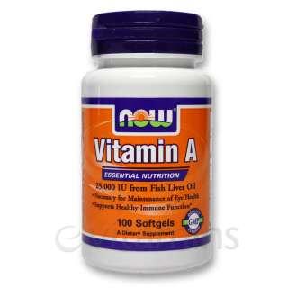 Now Vitamin A 25,000 IU   eVitamins   Lowest Price