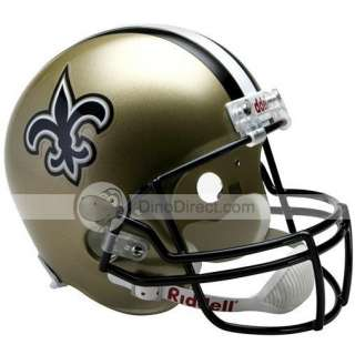 Wholesale Riddell NFL New Orleans Saints Football Helmet   DinoDirect