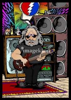 Jerry Garcia Cartoon Art Prints by John Tribolet   Shop Canvas and