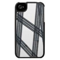 Car tire marks/tracks iPhone4 Case Cover by teedesign